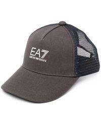 EA7 ロゴ キャップ - ブルー