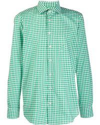 Etro Рубашка В Клетку Гингем - Зеленый