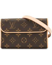 Louis Vuitton Поясная Сумка Pochette Florentine 2005-го Года - Коричневый
