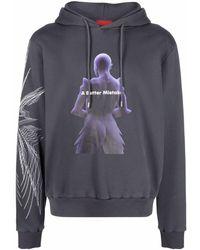 A BETTER MISTAKE Transhuman Graphic-print Hoodie - Grey
