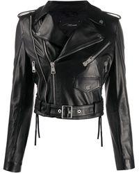 Manokhi Байкерская Куртка - Черный