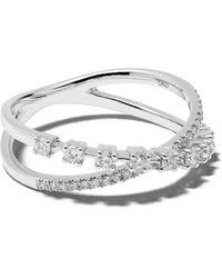 Dana Rebecca - 14kt White Gold Ava Bea Crossover Diamond Ring - Lyst