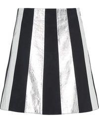 Miu Miu - スエード&レザースカート - Lyst