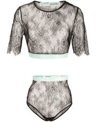 Off-White c/o Virgil Abloh - Lace Lingerie Set - Lyst