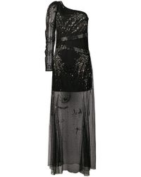Patrizia Pepe - One-shoulder Embellished Dress - Lyst