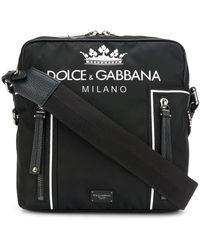 Dolce & Gabbana Bandolera con logo estampado - Negro