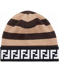 Fendi Шапка Бини С Логотипом Ff - Коричневый