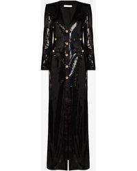 Alessandra Rich ビジューボタン ドレス - ブラック