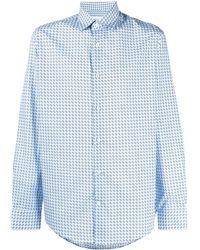 Ferragamo Рубашка С Принтом Gancini - Синий