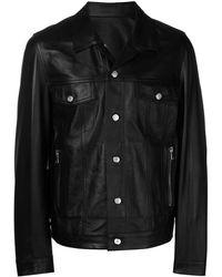 Balmain Байкерская Куртка С Логотипом - Черный