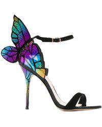 Sophia Webster Butterfly Heeled Sandals - Black