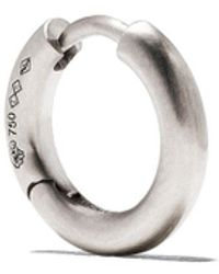 Le Gramme 18kt Brushed White Gold 17/10g Bangle Earring - Metallic