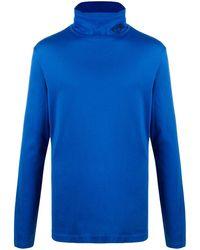 Versace Футболка С Высоким Воротником - Синий