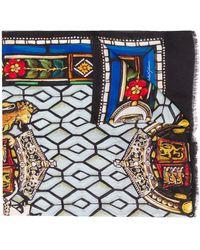 Dolce & Gabbana Schal mit Glasscheiben-Print - Schwarz