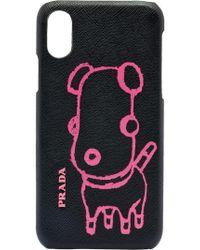 Prada - Malia Saffiano Leather Iphone Cover - Lyst
