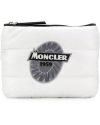Moncler パデッド クラッチバッグ - ホワイト