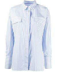 Essentiel Antwerp Gestreept Shirt - Blauw