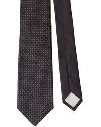 Prada Silk Geometric Tie - Grey