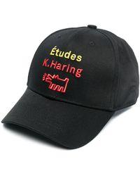 Etudes Studio X Keith Haring ベースボールキャップ - ブラック