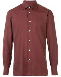 Kiton Поплиновая Рубашка - Многоцветный