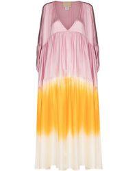 Anaak Airi Dip Tie-dye Silk Dress - Pink