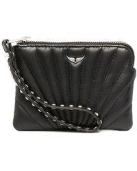 Zadig & Voltaire Mini Uma Stellar Quilted Wallet - Black