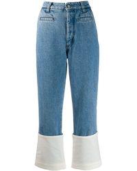 Loewe Fabric Mix Jeans - Blue