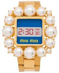Miu Miu - Armband im Uhren-Design - Lyst