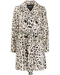 Dolce & Gabbana Двубортное Пальто С Леопардовым Принтом - Многоцветный
