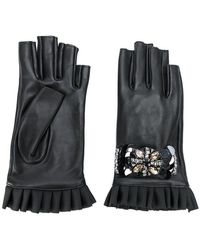 Twin Set - Embellished Fingerless Gloves - Lyst