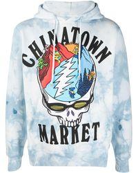Chinatown Market ロゴ ドローストリング パーカー - ブルー