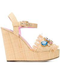 Dolce & Gabbana - デコラティブ ウェッジサンダル - Lyst