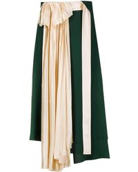 Lanvin Юбка Асимметричного Кроя - Зеленый
