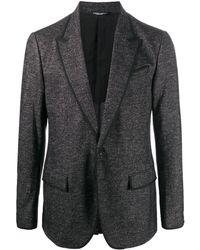 Dolce & Gabbana Однобортный Пиджак - Серый