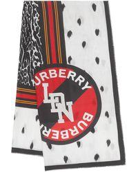 Burberry - アニマルプリント スカーフ - Lyst