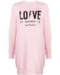 Love Moschino - ロゴ スウェットドレス - Lyst