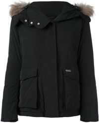 Woolrich - Short Military Hooded Jacket - Lyst