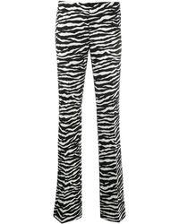 P.A.R.O.S.H. Slim Fit Trousers - Black