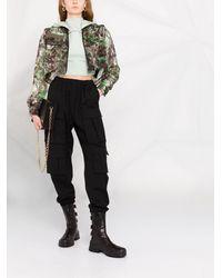Mr & Mrs Italy Укороченная Куртка Blossom С Камуфляжным Принтом - Зеленый