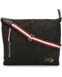 Bally Stripe Detail Cross Body Bag - Black