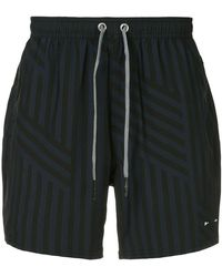 The Upside - Loose striped running shorts - Lyst
