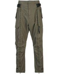 Mostly Heard Rarely Seen Pantalon cargo à détail zippé - Vert