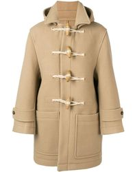 AMI Patched Pockets Shearling-trimmed Duffle Coat - ナチュラル