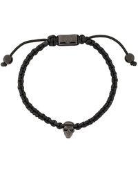 Northskull Bracelet tressé à tête de mort - Noir