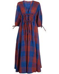 Altuzarra Dondrine チェック ドレス - ブルー