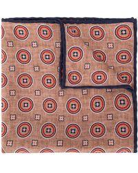 Brunello Cucinelli Einstecktuch mit geometrischem Muster - Pink