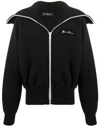 Versace Кардиган Gv Signature На Молнии - Черный