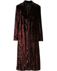 Unreal Fur Abrigo midi de piel artificial - Multicolor