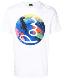 PS by Paul Smith - Circle Print T-shirt - Lyst