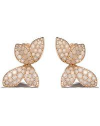 Pasquale Bruni 18kt Rose Gold Giardini Segreti Diamond Stud Earrings - Metallic